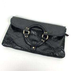 Sigrid Olsen Black Patent Leather Convertible Bag